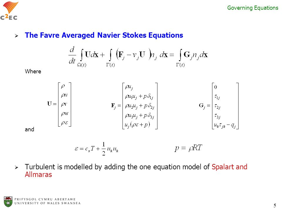 The Favre Averaged Navier Stokes Equations