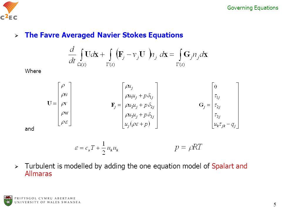 The Favre Averaged Navier Stokes Equations