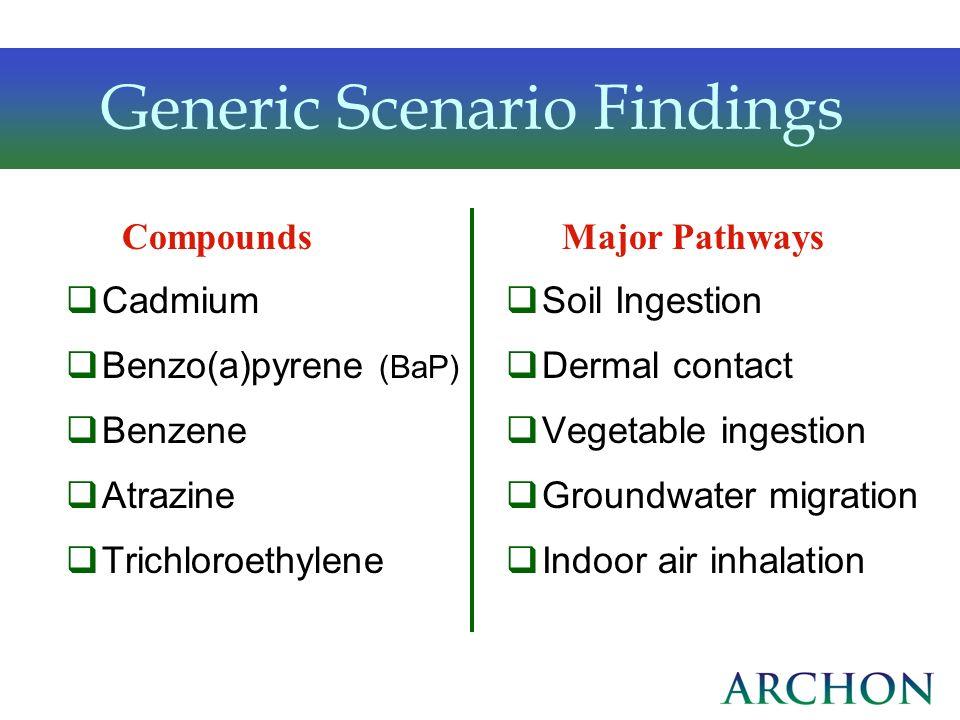 Generic Scenario Findings