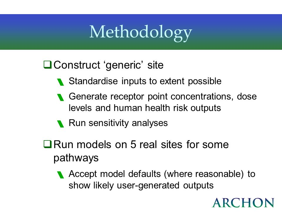 Methodology Construct 'generic' site