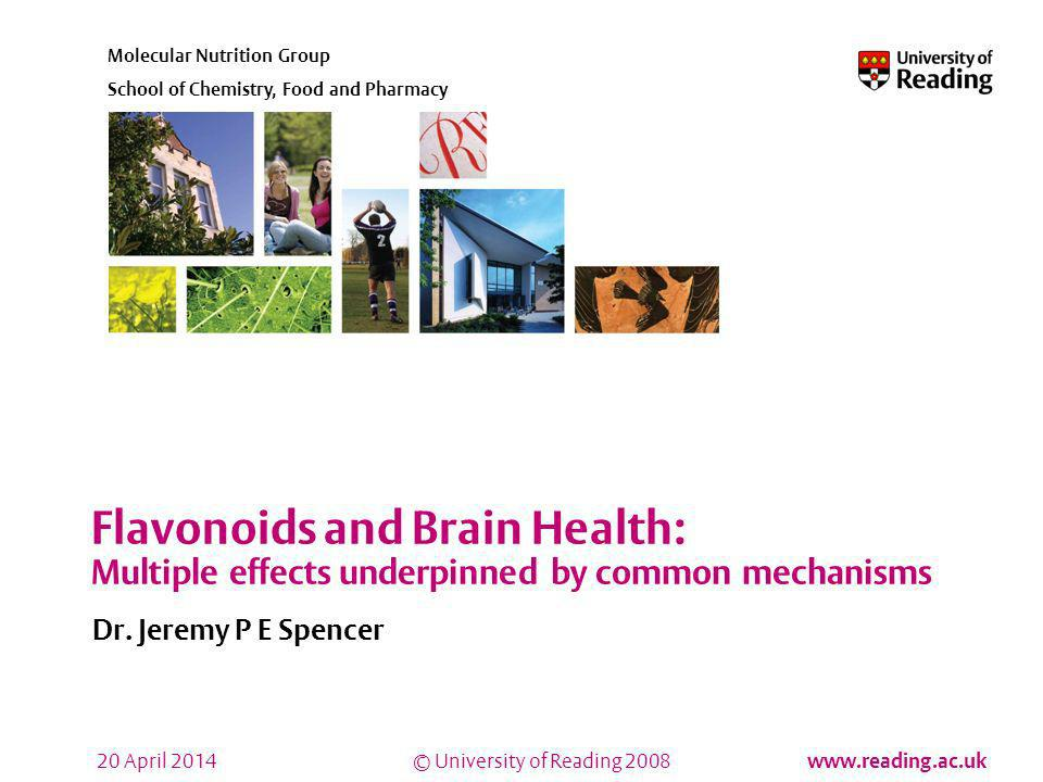 Flavonoids and Brain Health: Multiple effects underpinned by common mechanisms