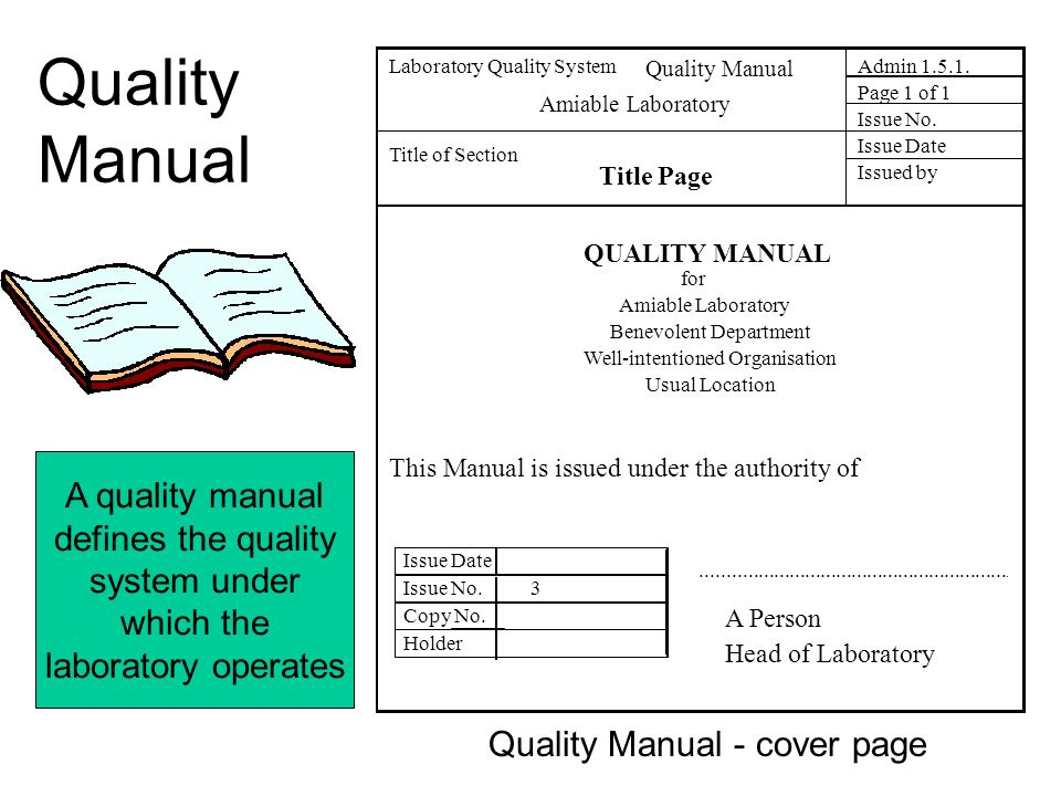 Magnificent Quality Manual Template Crest - Example Resume and ...