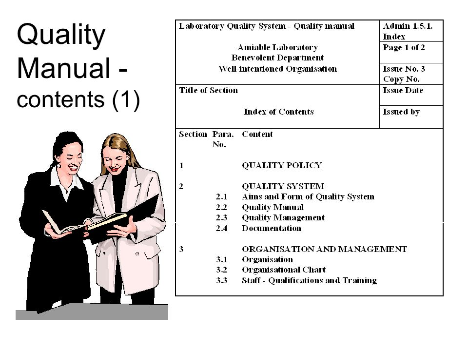 Quality Manual - contents (1)