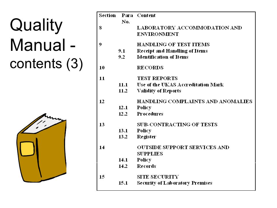 Quality Manual - contents (3)