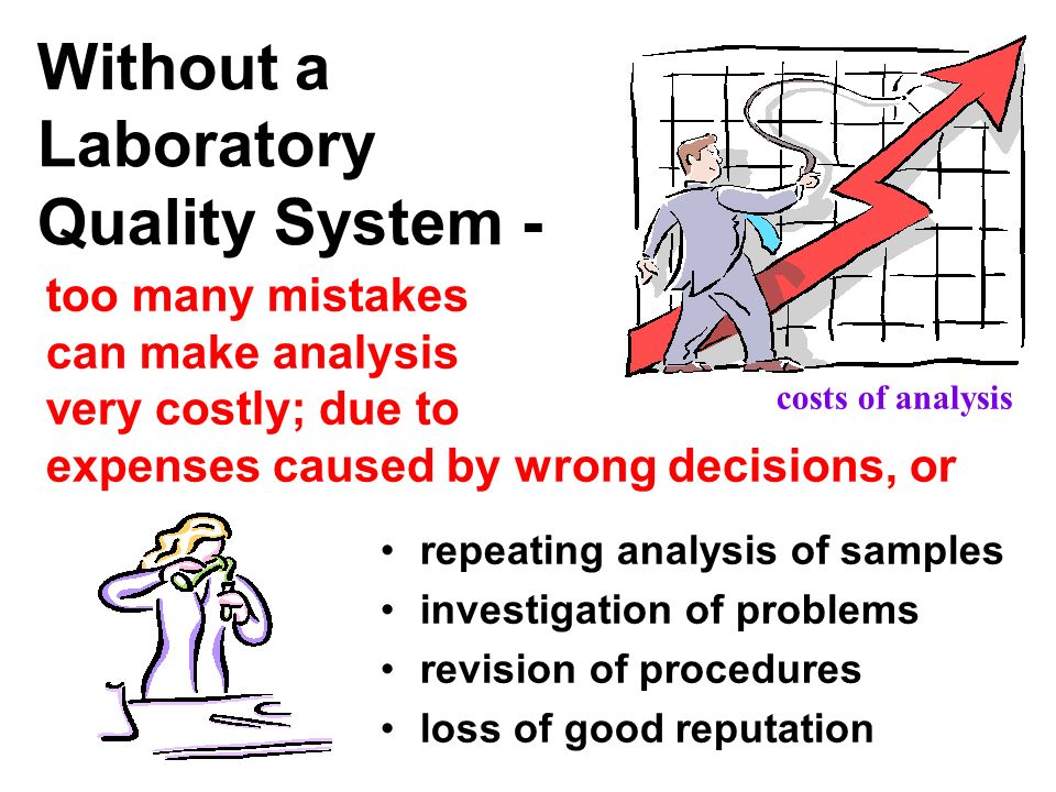 Without a Laboratory Quality System -