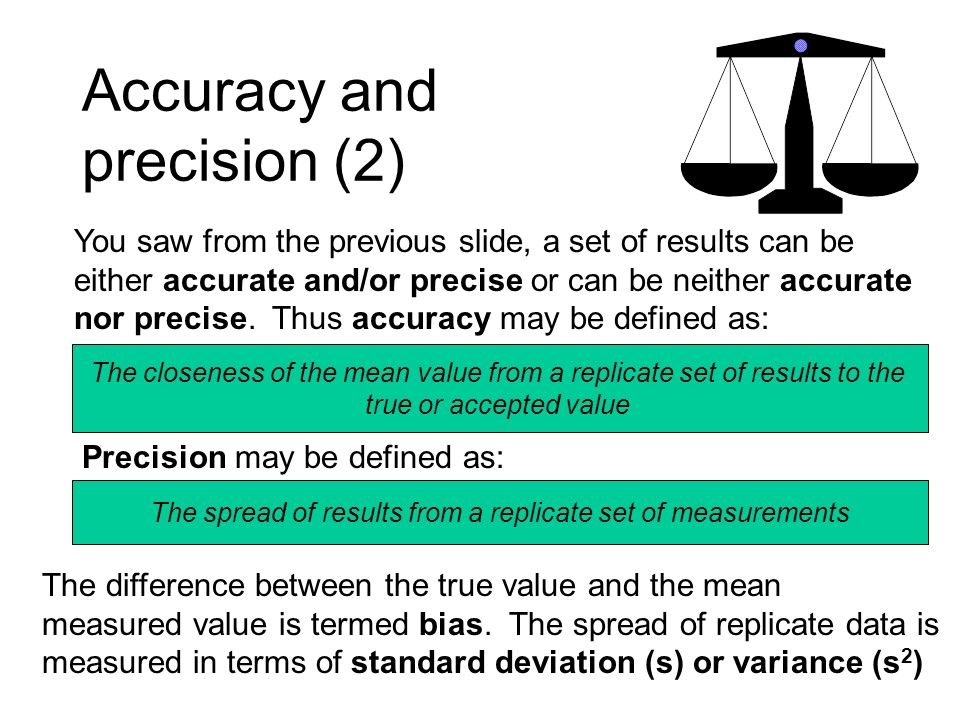 Accuracy and precision (2)
