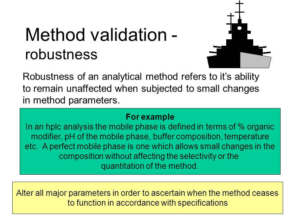 Method validation - robustness