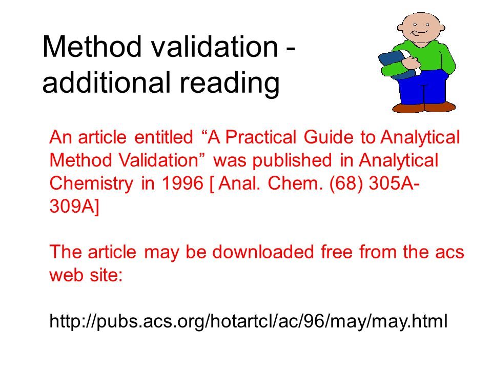 Method validation - additional reading