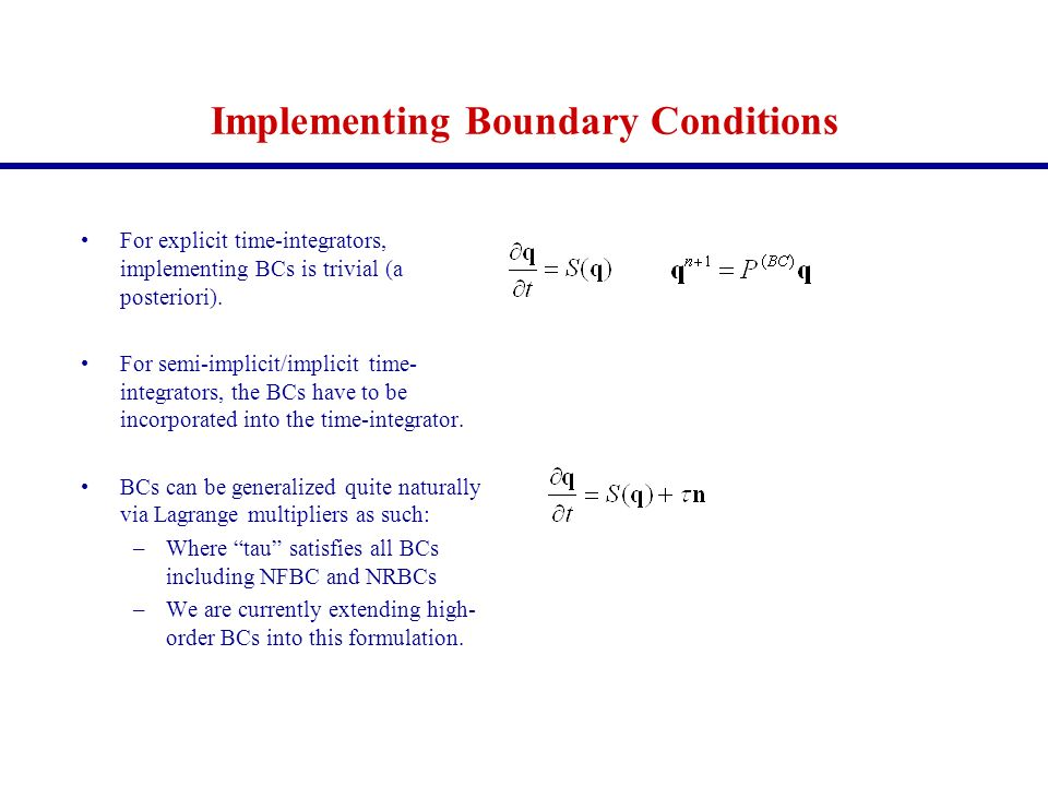 Implementing Boundary Conditions