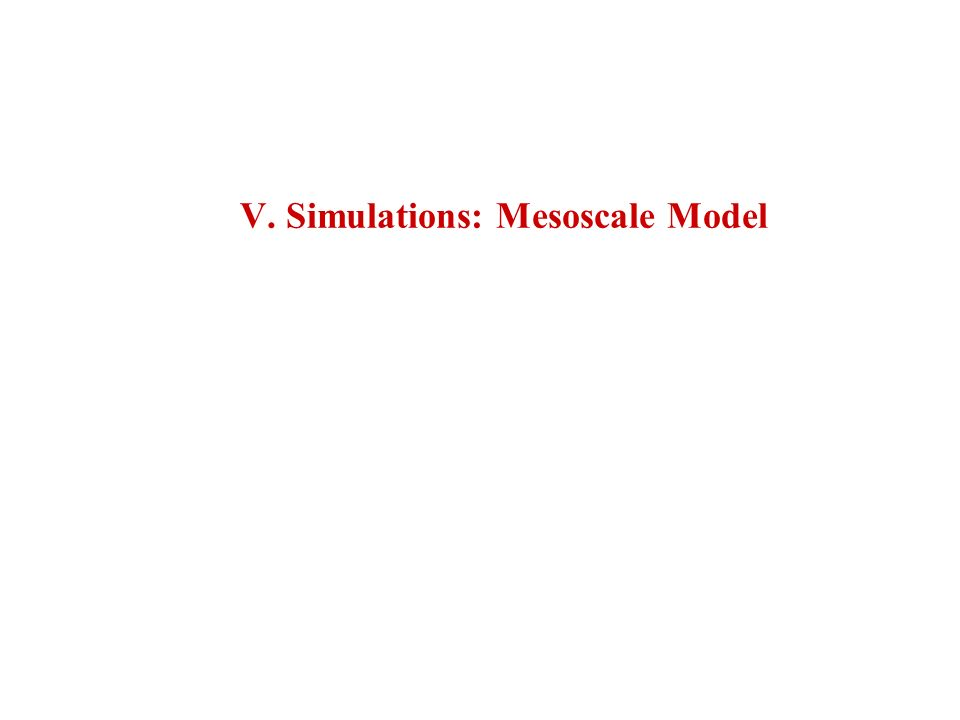 V. Simulations: Mesoscale Model