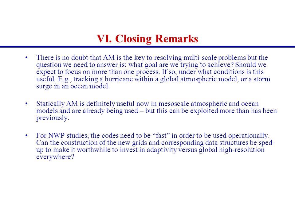 VI. Closing Remarks