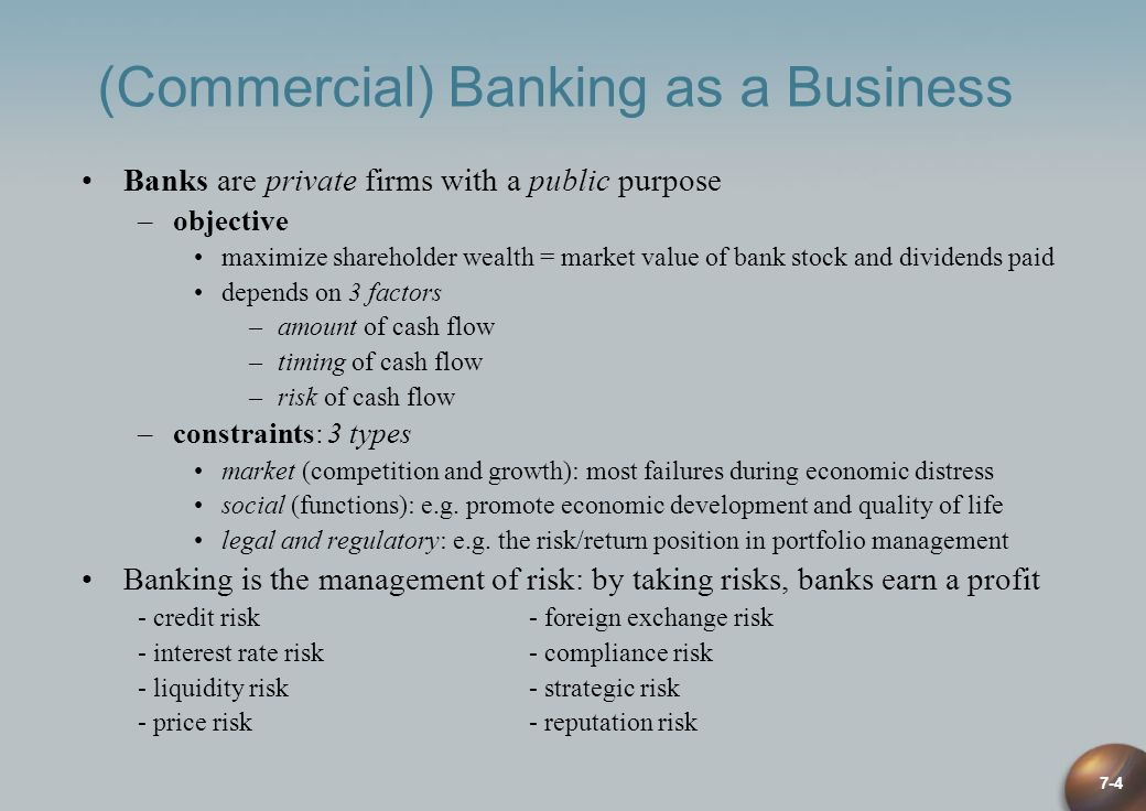 (Commercial) Banking as a Business