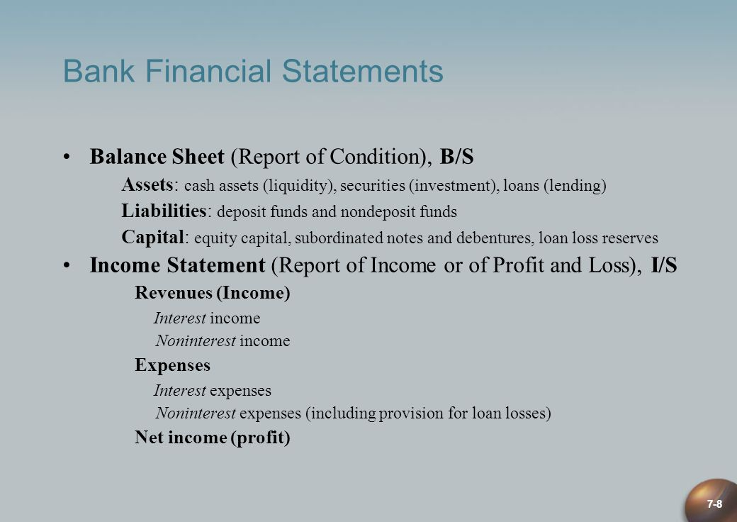 Bank Financial Statements