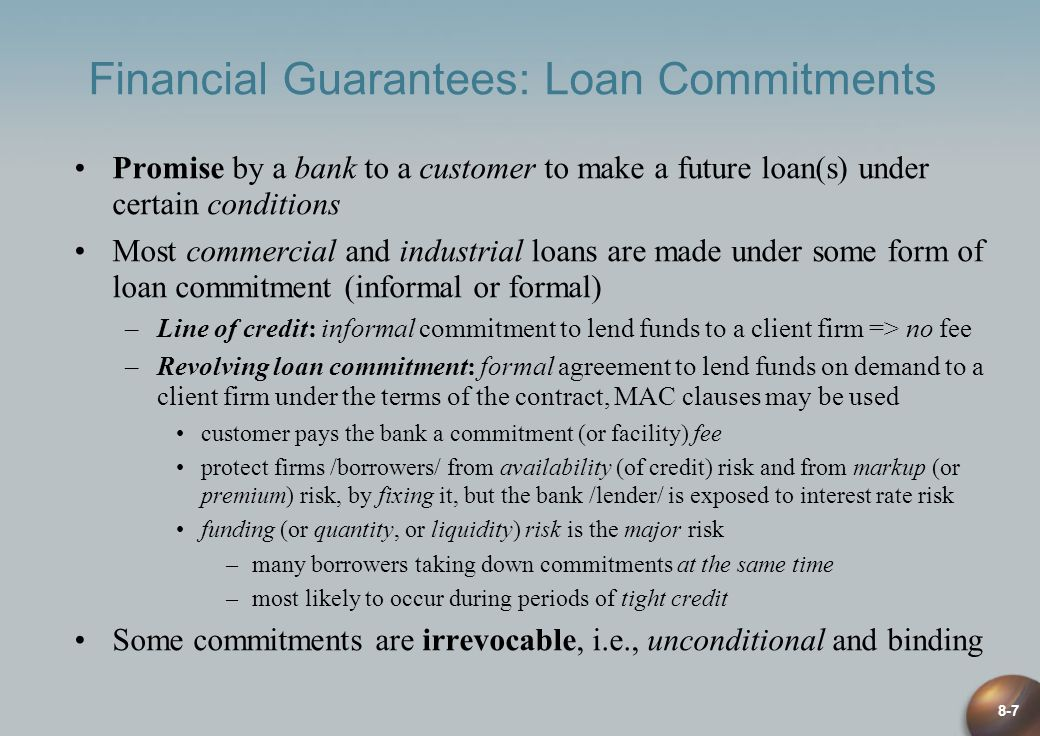 Financial Guarantees: Loan Commitments