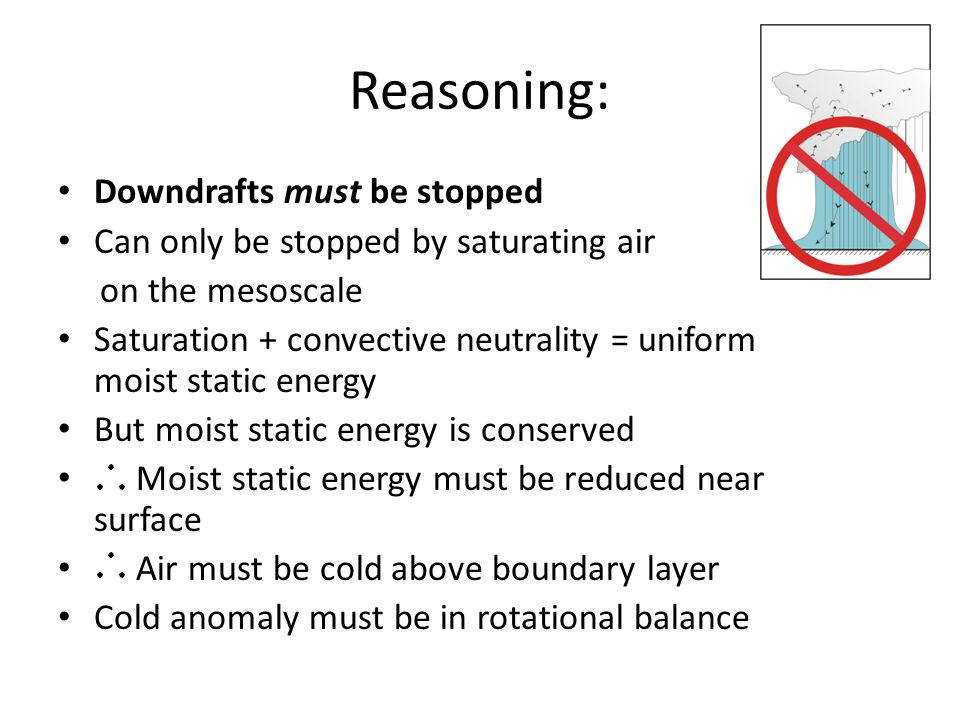 Reasoning: Downdrafts must be stopped