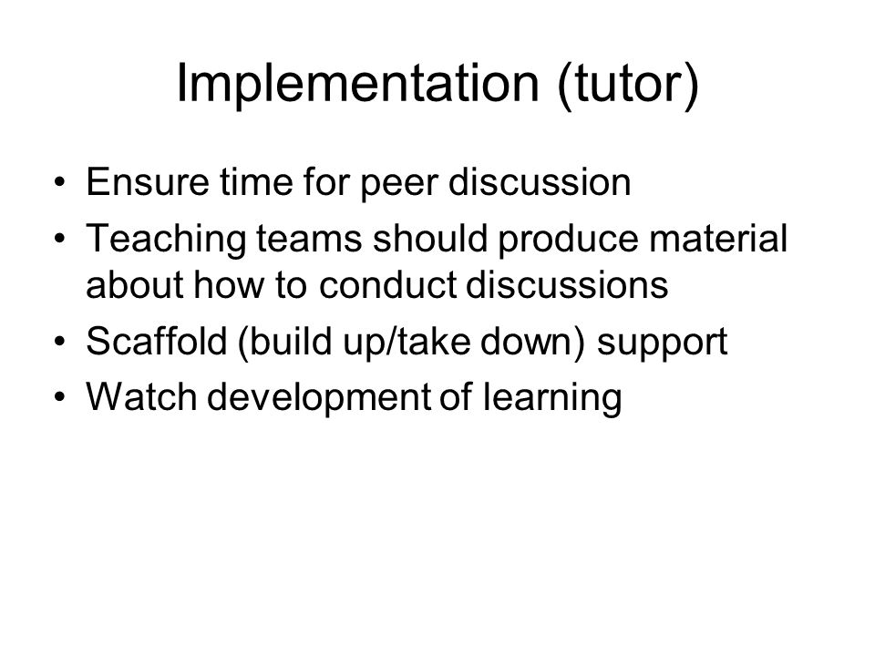 Implementation (tutor)