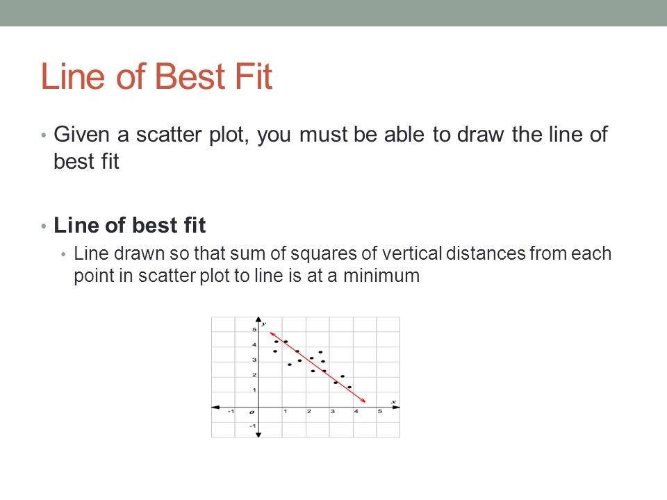 Drawing Lines Of Best Fit : Correlation regression ppt video online download