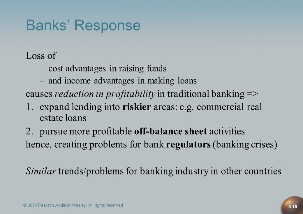 Banks' Response Loss of