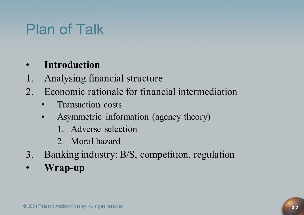 Plan of Talk Introduction Analysing financial structure