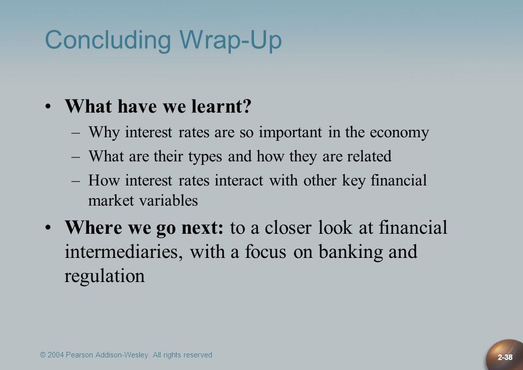 Concluding Wrap-Up What have we learnt