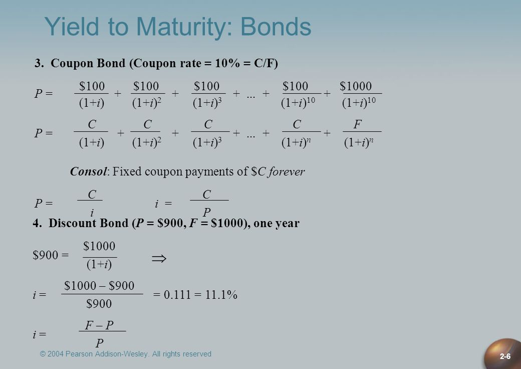 Yield to Maturity: Bonds
