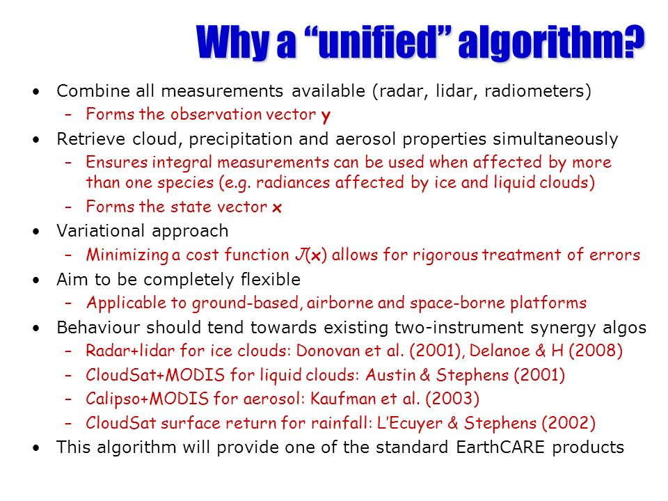 Why a unified algorithm