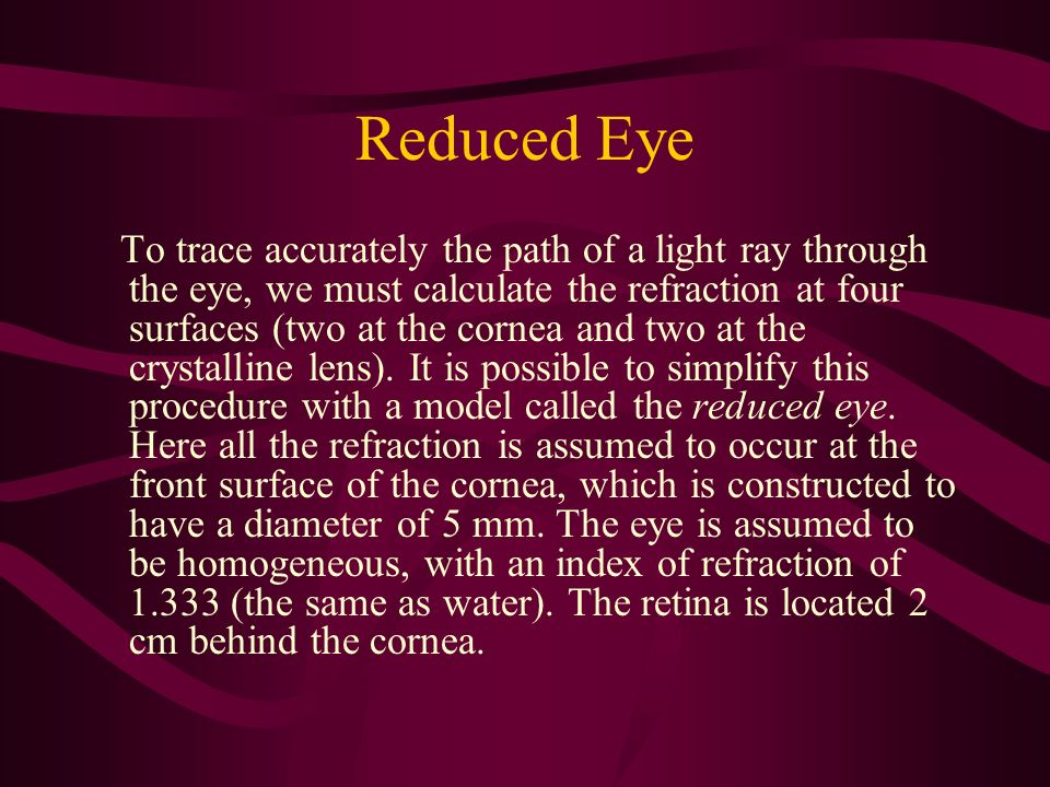 Reduced Eye