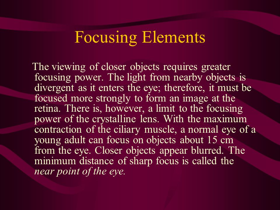 Focusing Elements