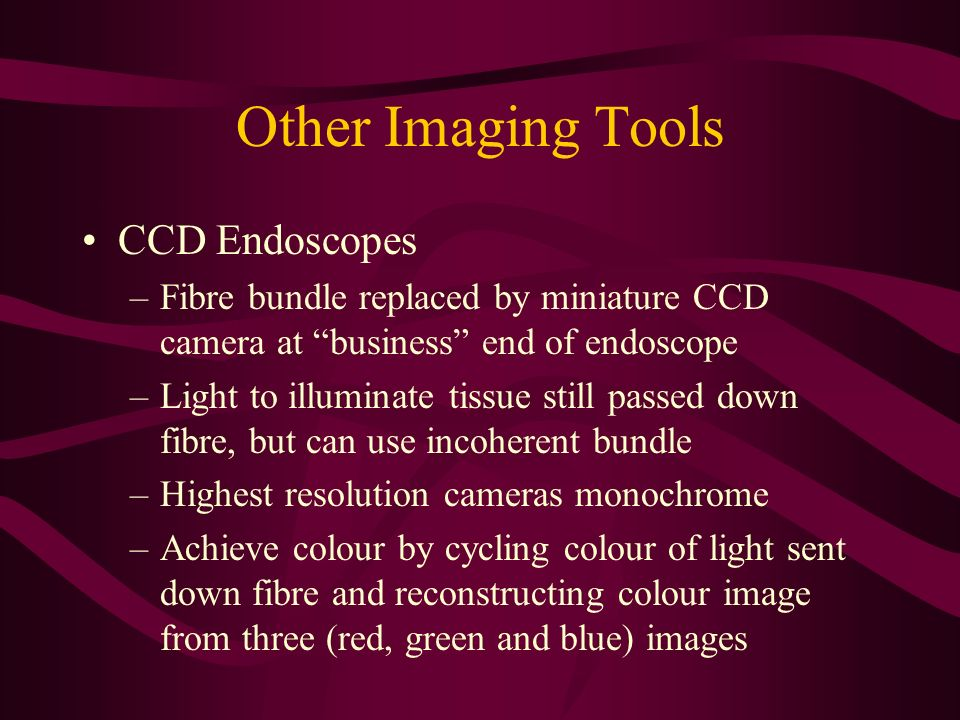 Other Imaging Tools CCD Endoscopes
