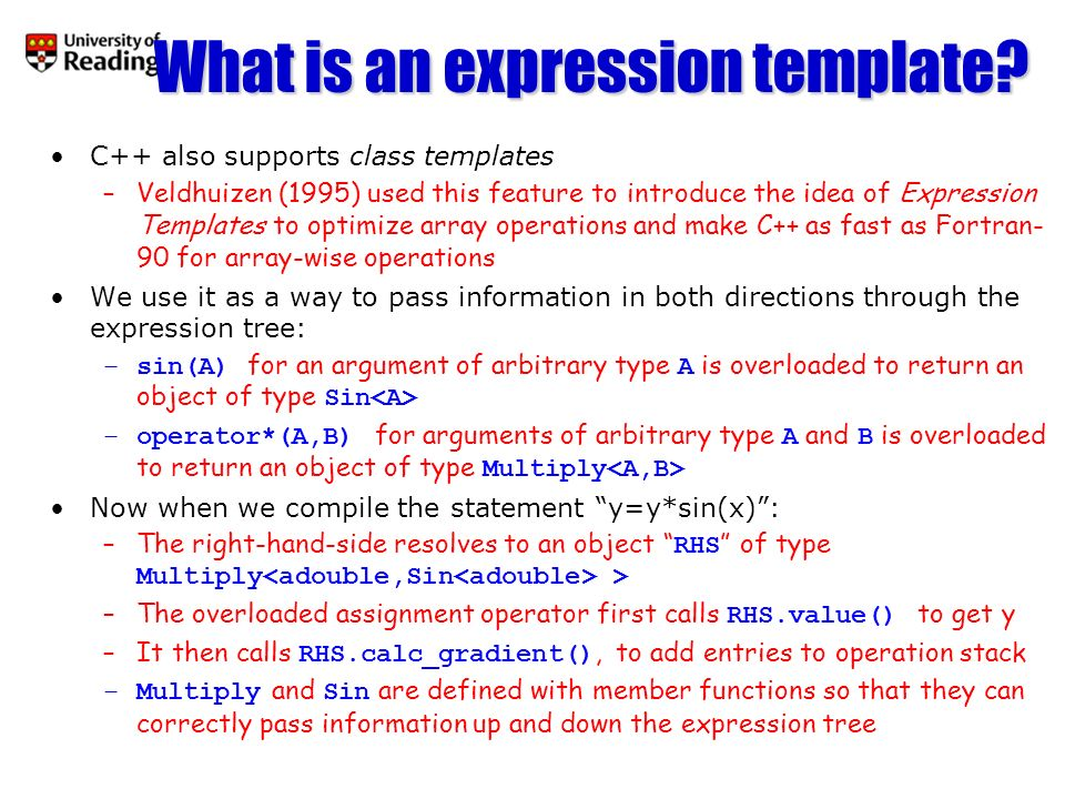 What is an expression template