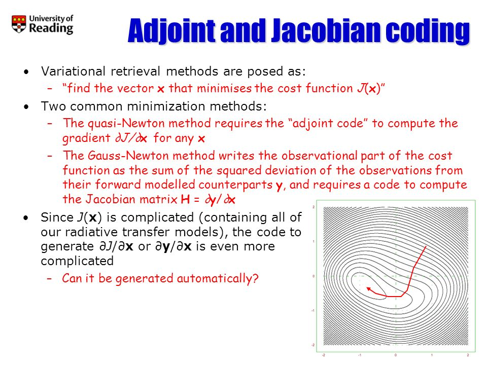 Adjoint and Jacobian coding