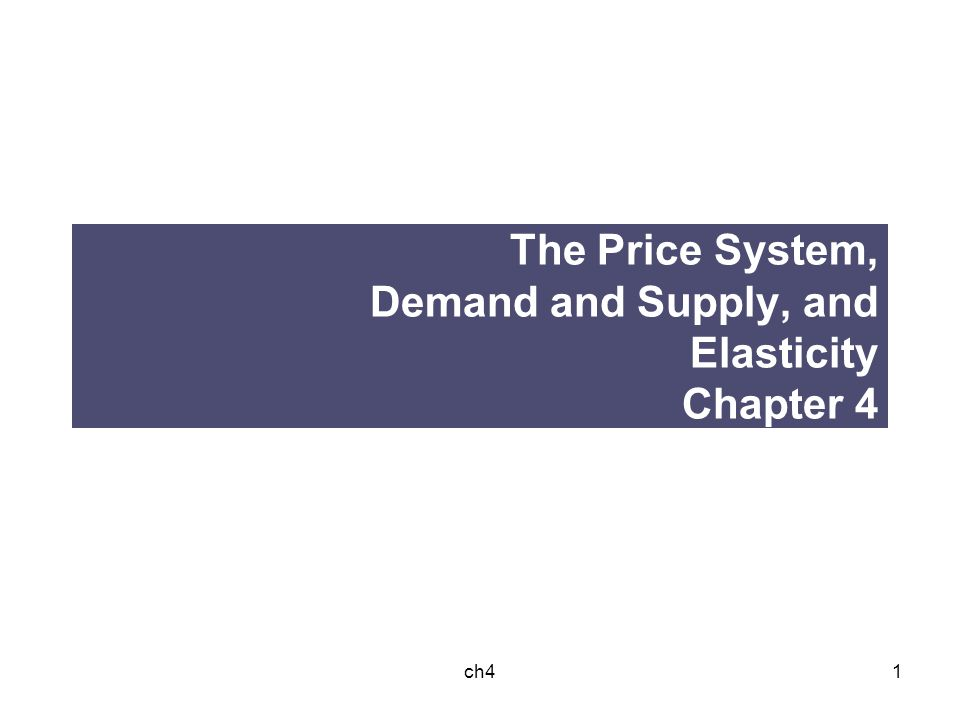 the price system demand supply and 12062001  price is arrived at by the interaction between demand and supply price is dependent upon the characteristics of both these fundamental components of a.