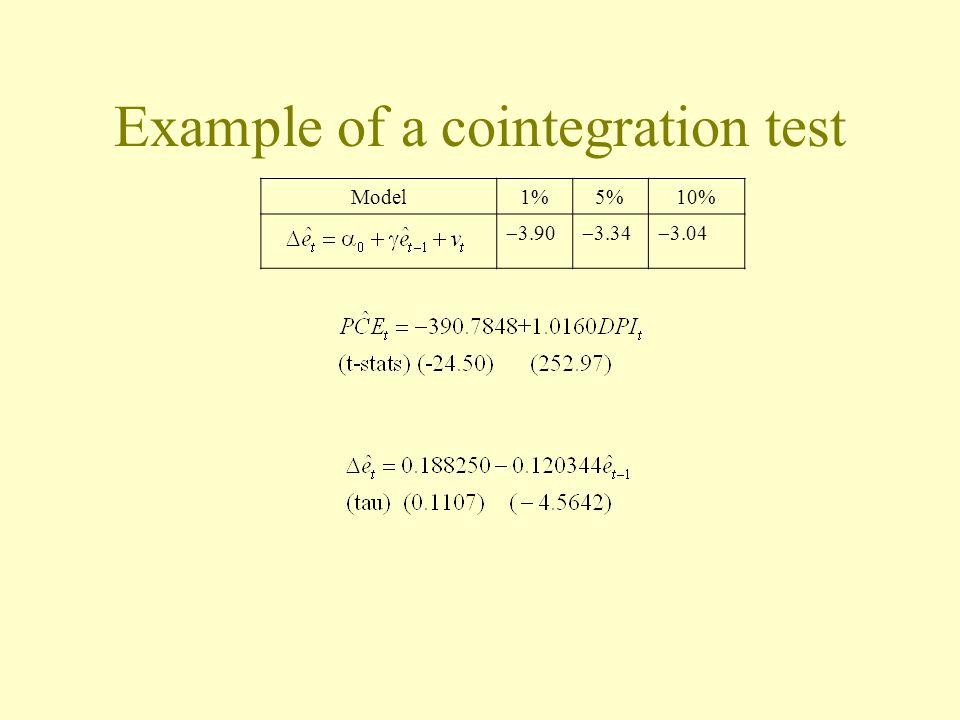 Example of a cointegration test