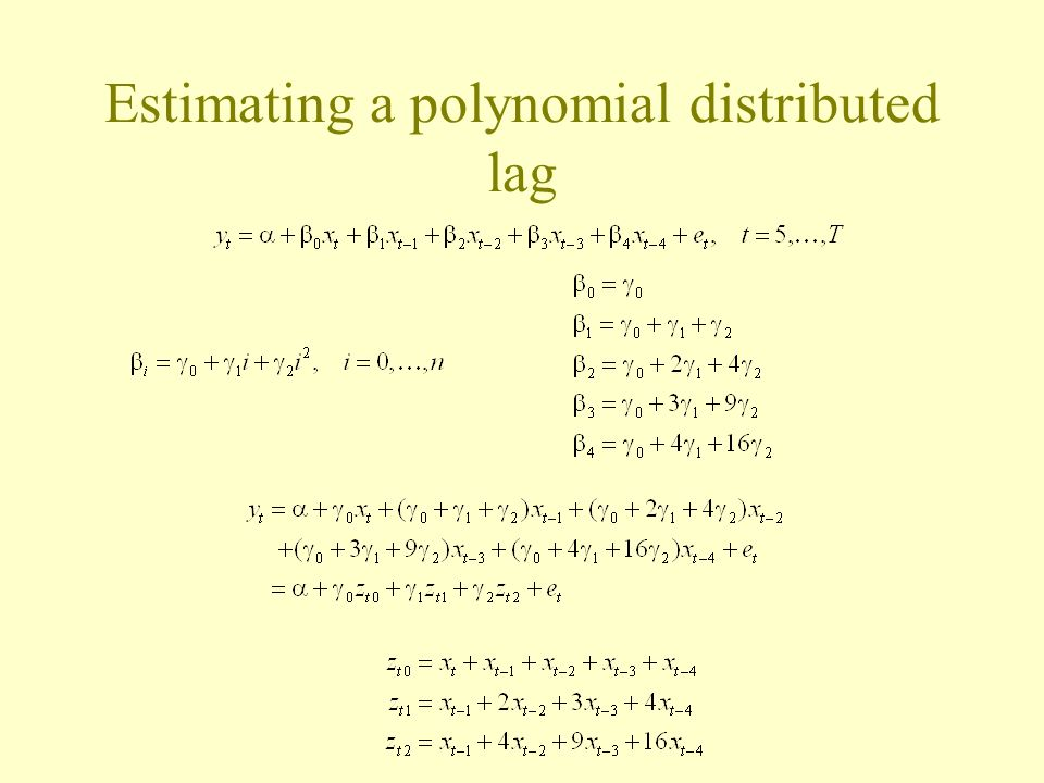 Estimating a polynomial distributed lag