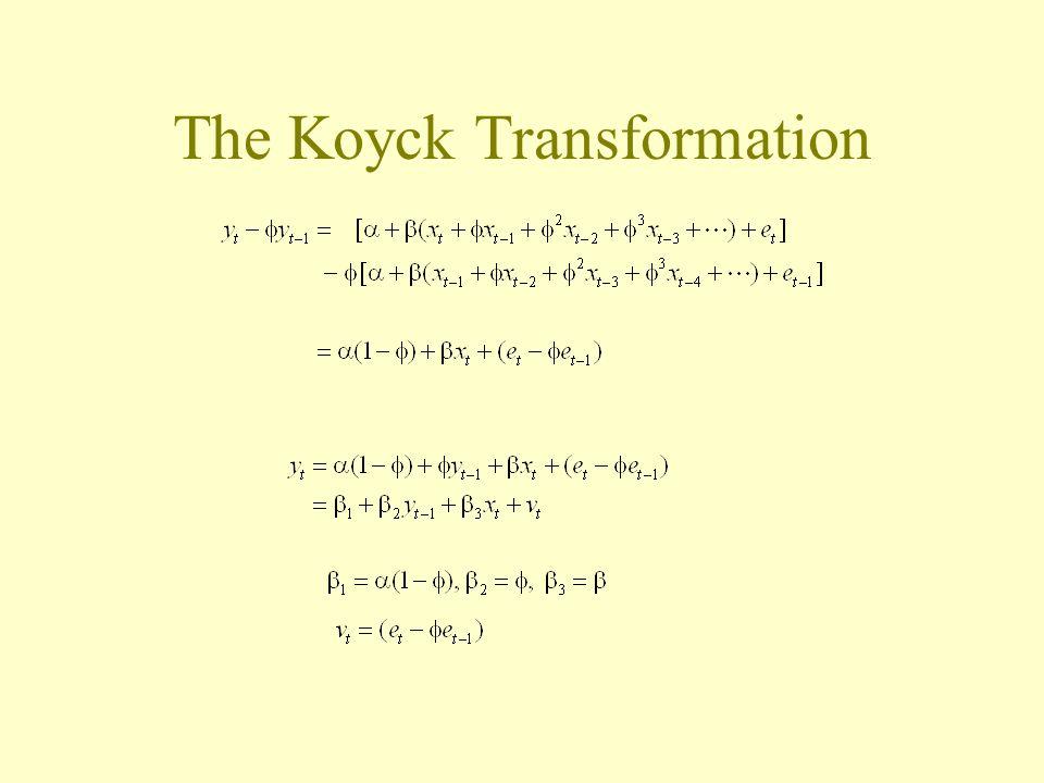 The Koyck Transformation