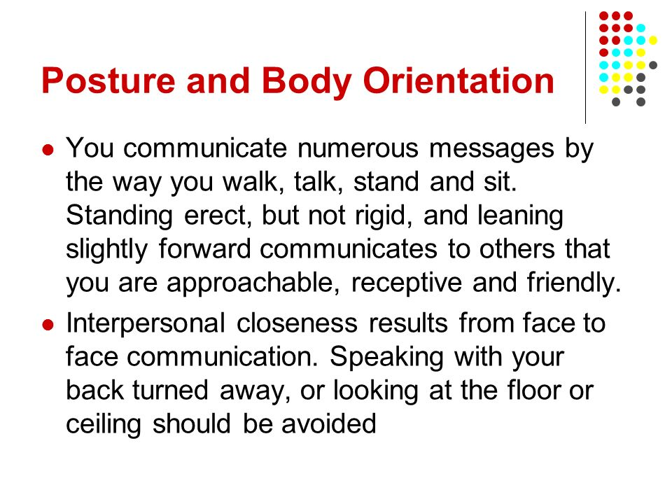 Posture and Body Orientation