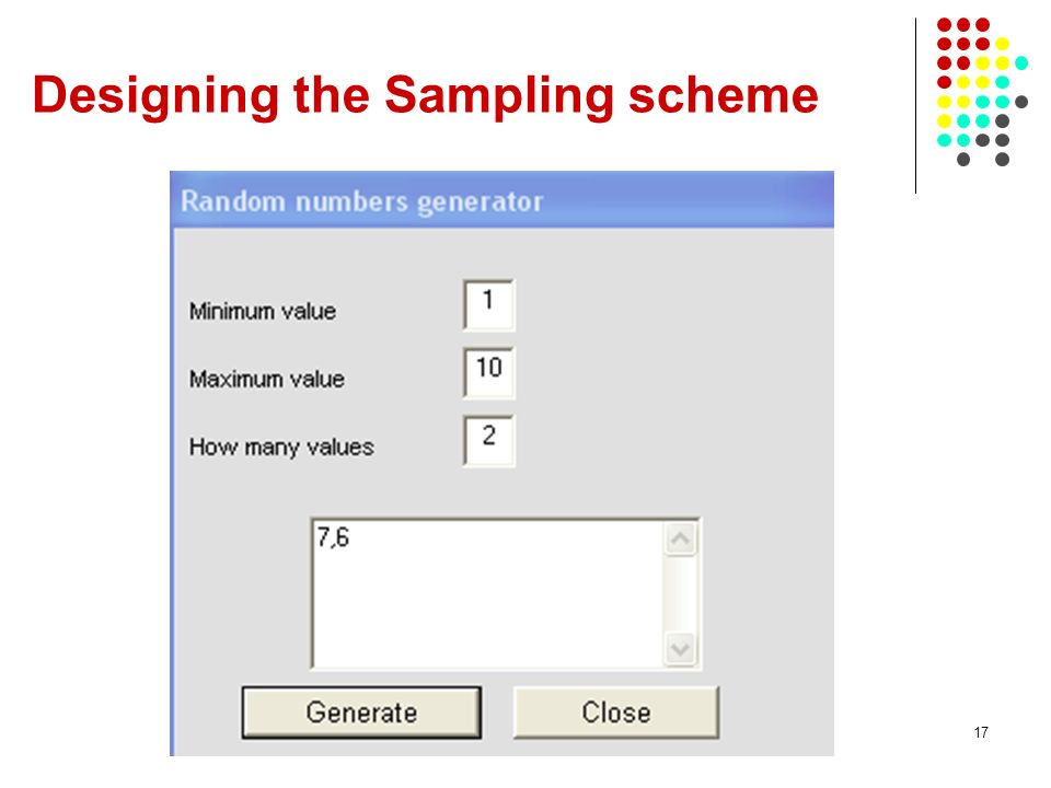 Designing the Sampling scheme
