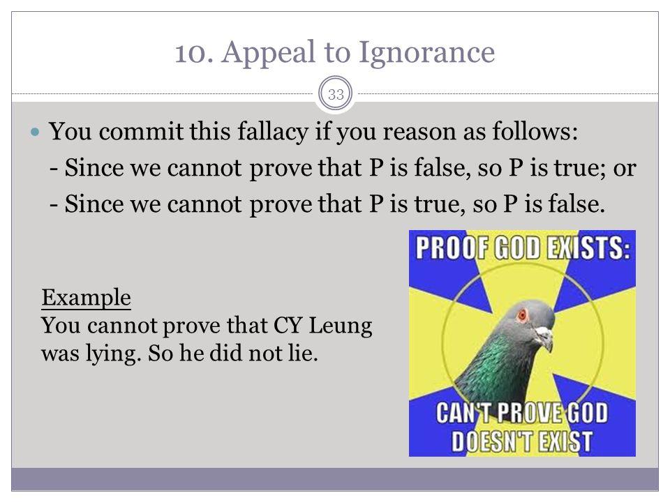 informal fallacies ppt