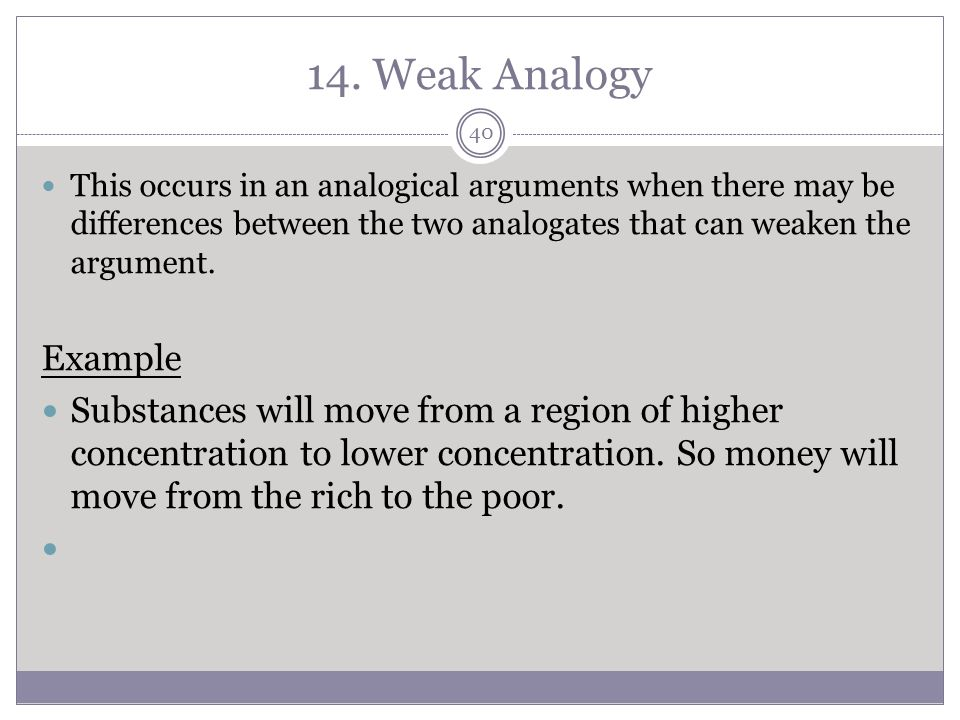 Argument From Analogy Fallacy Examples Images Example Cover Letter