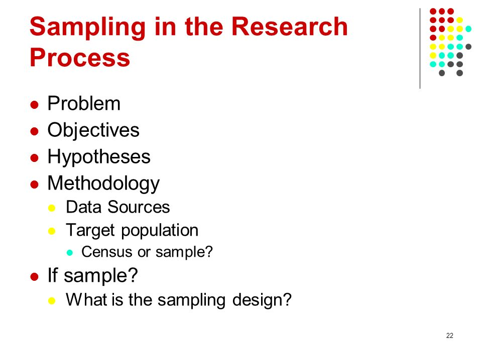 Sampling in the Research Process