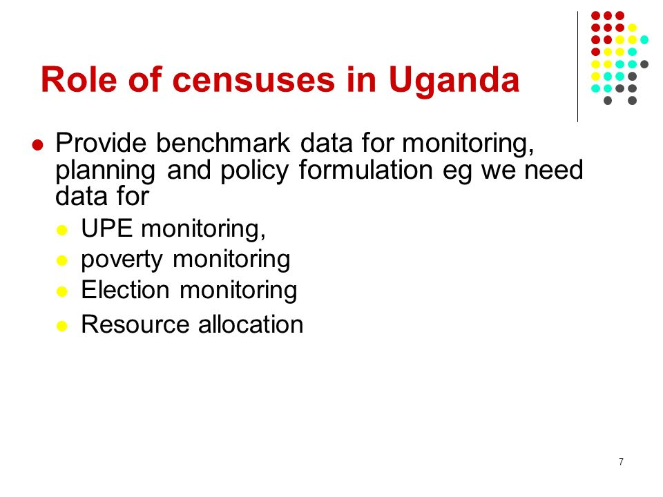 Role of censuses in Uganda