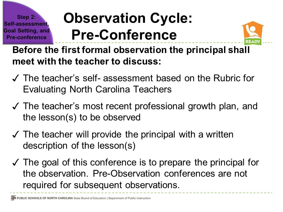 Observation Cycle: Pre-Conference