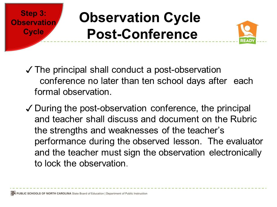 Observation Cycle Post-Conference