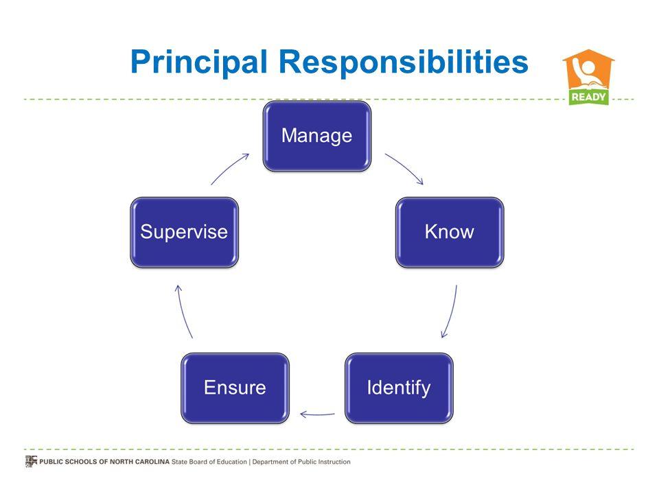 Principal Responsibilities