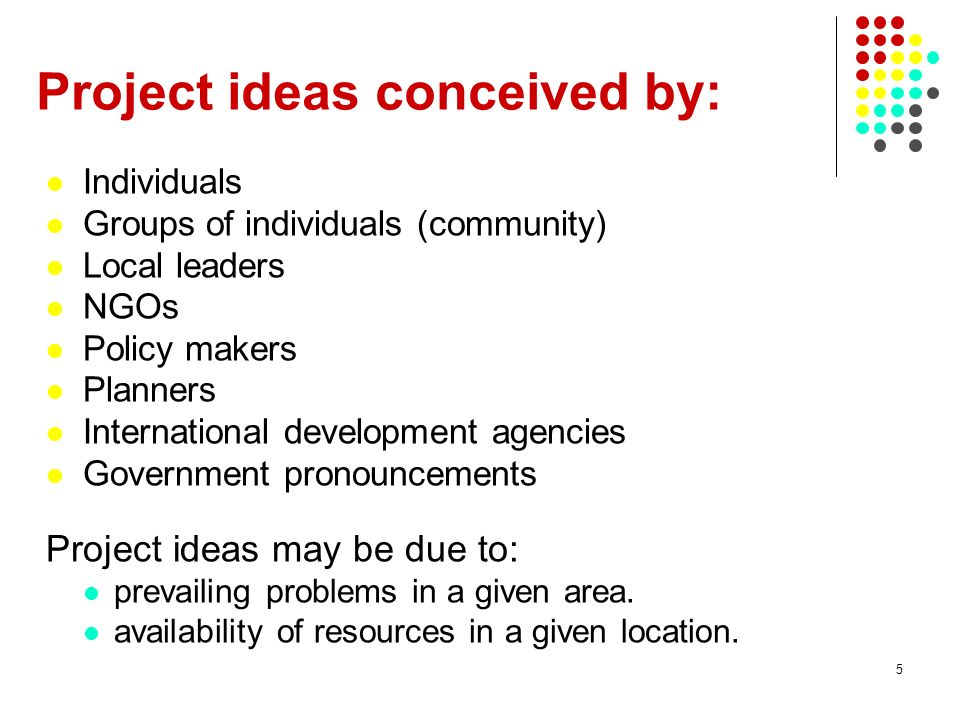 Project ideas conceived by: