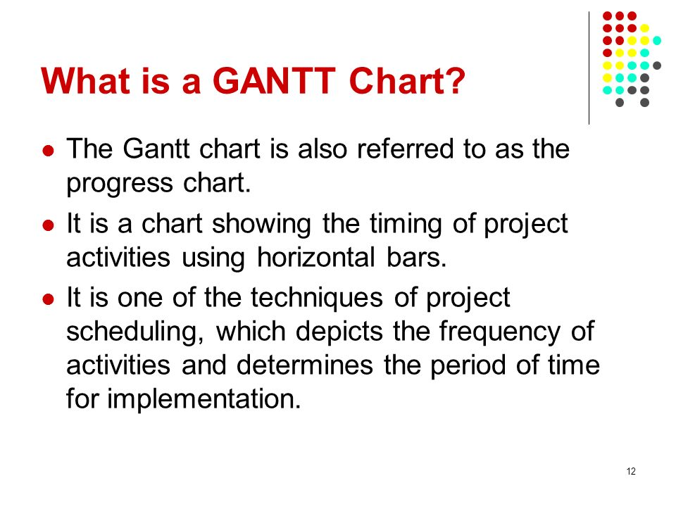 28/03/2017 What is a GANTT Chart The Gantt chart is also referred to as the progress chart.