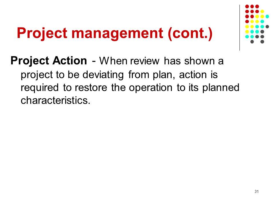 Project management (cont.)