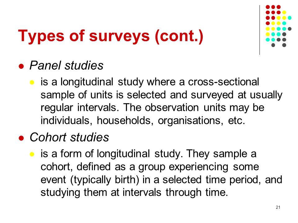 Types of surveys (cont.)