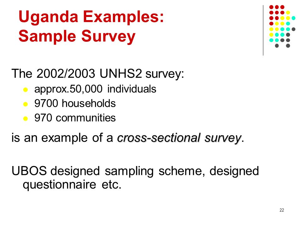 Uganda Examples: Sample Survey