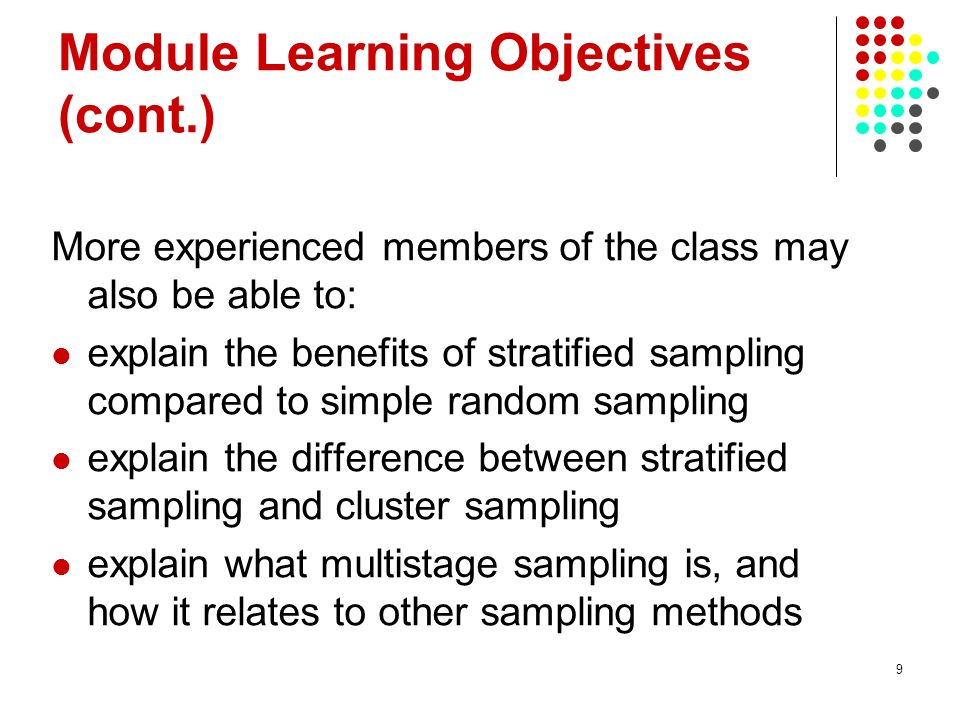 Module Learning Objectives (cont.)